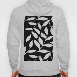 WHITE AND BLACK LEAVES DESIGN PATTERN Hoody