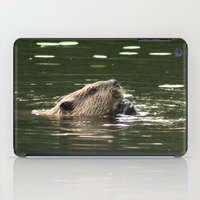 beaver iPad Cases featuring Beaver Munching by FiveAcesMedia