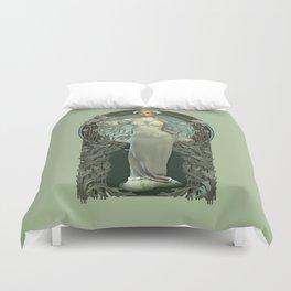 Art Nouveau White Lady Duvet Cover
