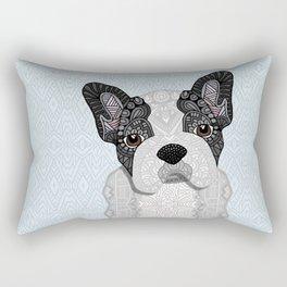 Black & White Frenchie 001 Rectangular Pillow