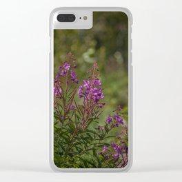 Yukon Fireweed Clear iPhone Case