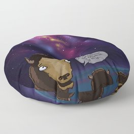 Neil DeGrasse Bison Floor Pillow