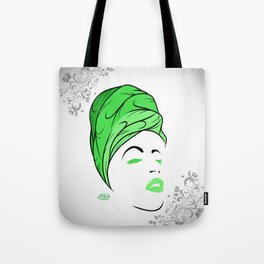Lady Wrap (green) Tote Bag