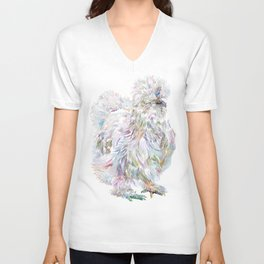 Silkie Chicken - Buchu Unisex V-Neck