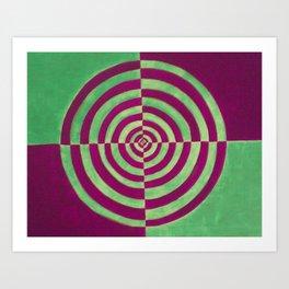 Hippie Circles Art Print