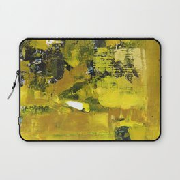 Waiter Yellow Abstract Modern Art Painting Laptop Sleeve