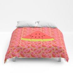 Spring watermelon Comforters