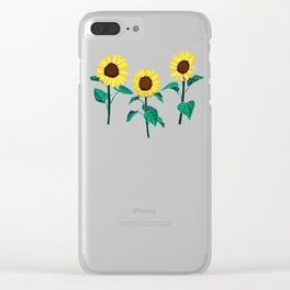 Sunny Sunflowers - Emerald Clear iPhone Case
