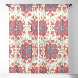 FLOR XL white Sheer Curtain