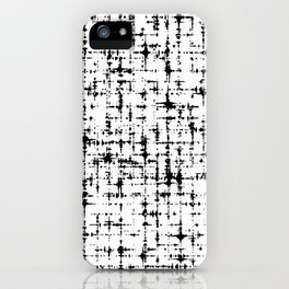 Black & White Abstract X iPhone Case