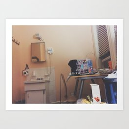 Simple Hotel Room Picture Art Print