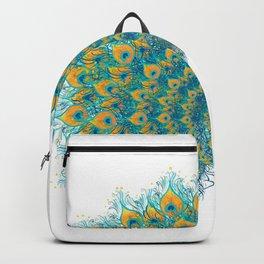 Peacock green & blue Backpack