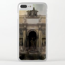Dark Ages Trevi Fountain Clear iPhone Case