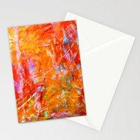 Abstract with Circle in Gold, Red, and Blue Stationery Cards
