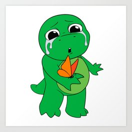 Little Dinosaur, Big Feelings (Flutter) Art Print