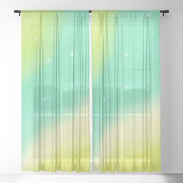 Rush of Green (Dreamy Abstract Art) Sheer Curtain