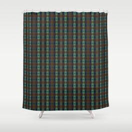 Colorful Plaid Shower Curtain