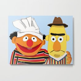Ernie and Bert Metal Print