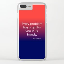 Richard Bach Quote Clear iPhone Case