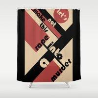 bauhaus Shower Curtains featuring Bauhaus by Disfigured Circumstance