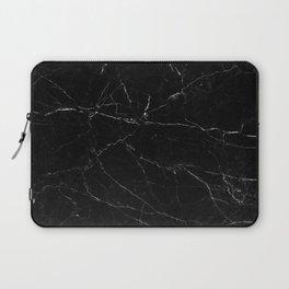 Black Marble Print Laptop Sleeve