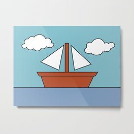 Simpsons Living Room Boat Picture Metal Print