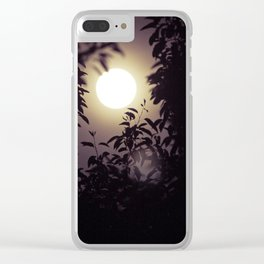 Super Moon I Clear iPhone Case