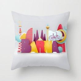 Barcelona ilustrada Throw Pillow
