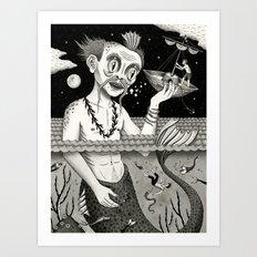 Hijacking on the High Sea Art Print