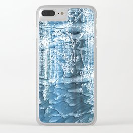 Steel blue nebulous wash drawing paper Clear iPhone Case
