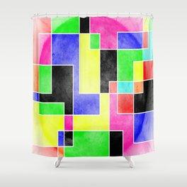 Colour Pieces Shower Curtain