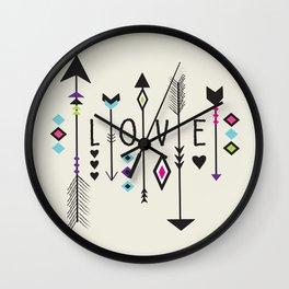 Boho Love Wall Clock