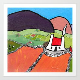 The West of Ireland - Old stone walls Art Print