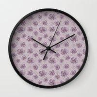 magnolia Wall Clocks featuring Magnolia by Vickn