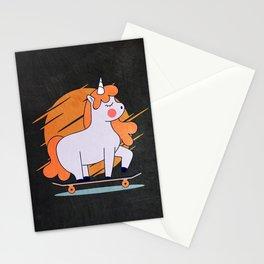 Skateboarding Unicorn Stationery Cards