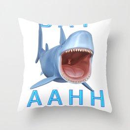 Sharks Tale ..  Throw Pillow