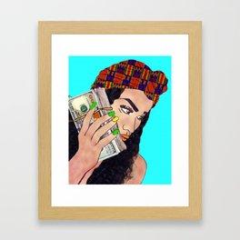 Talking To Benji Framed Art Print