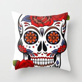 Skull Day of Dead Throw Pillow