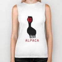 alpaca Biker Tanks featuring ALPACA by FUNCIT
