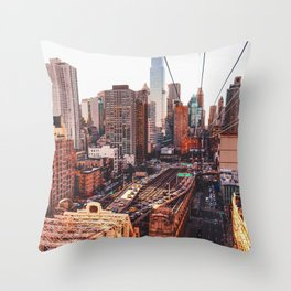 New York City from Above Throw Pillow