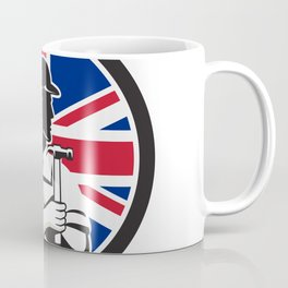 British DIY Expert Union Jack Flag Icon Coffee Mug