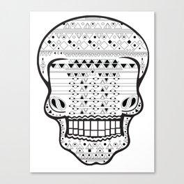B/W Skull 1 Canvas Print