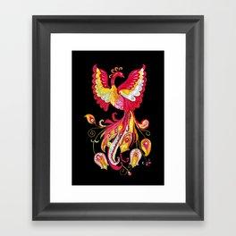 Firebird - Fantasy Creature Framed Art Print