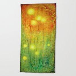 Glowing Lights Beach Towel