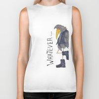 whatever Biker Tanks featuring Whatever by Jennifer Geldard