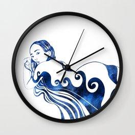 Water Nymph III Wall Clock