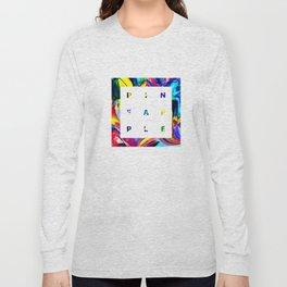 Pineapple Vibes on High Technicolor Long Sleeve T-shirt