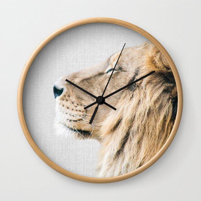 Lion Portrait - Colorful Wall Clock