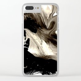 Black + White 1 Clear iPhone Case