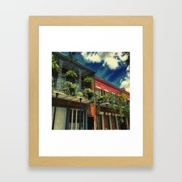 French Quarter Balconies Framed Art Print